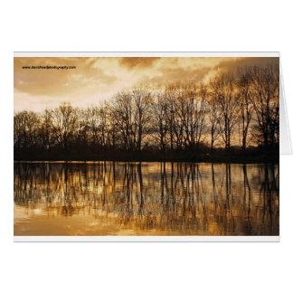 Winter dusk card