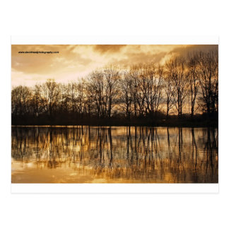 Winter dusk postcard