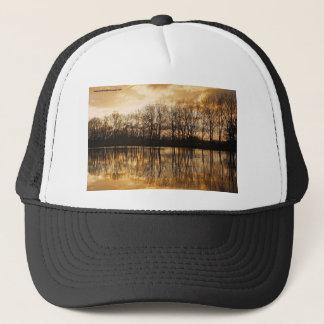 Winter dusk trucker hat