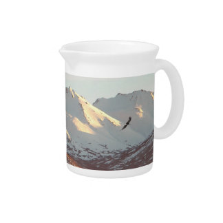 Winter Eagle Drink Pitcher