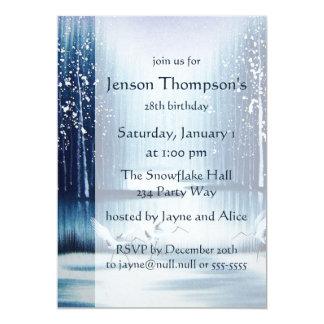 Winter Egrets Birthday Invitation