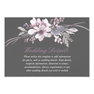 Winter Elegant Floral Wedding reception details Invitation