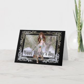 Winter Elf - Fantasy Mother's Day Card