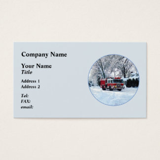 Winter Emergency Business Card