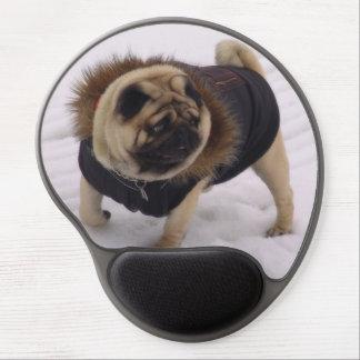 Winter Euro Pug Gel Mousepad