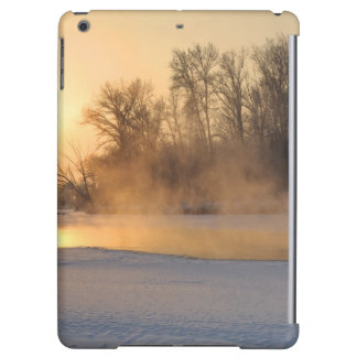 Winter Evening by the Frozen Lake Cover For iPad Air