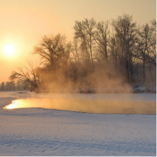 Winter Evening by the Frozen Lake Cutout