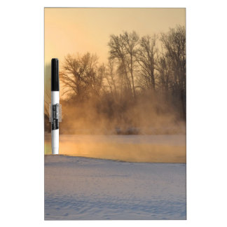 Winter Evening by the Frozen Lake Dry-Erase Board