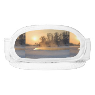 Winter Evening by the Frozen Lake Visor