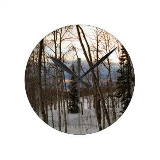 Winter Evening Clock