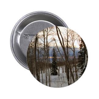 Winter Evening Pinback Button