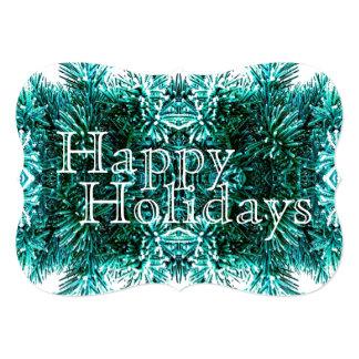 Winter Evergreen Garland Christmas Tree Decoration 5x7 Paper Invitation Card