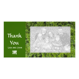 Winter Evergreen Thank You Card