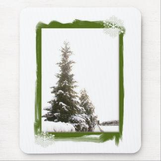 Winter Evergreens-DIY Mouse Pad