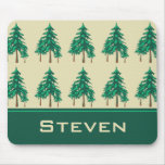 Winter Evergreens Outdoor Enthusiast Personalized Mouse Pad