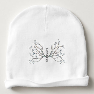 Winter Faery Wings Personalized Baby Beanie