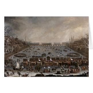 Winter Fair on the Thames, London Card