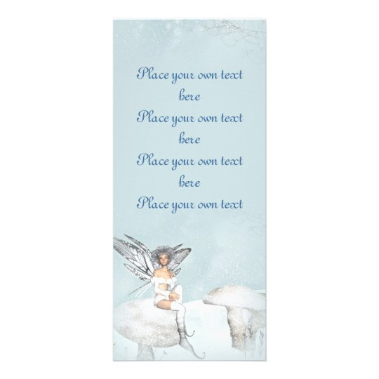 Winter fairy bookmark Customize Rack Card