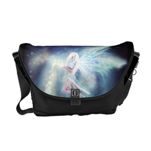 Winter Fairy Fantasy Goth Art Messenger Bag