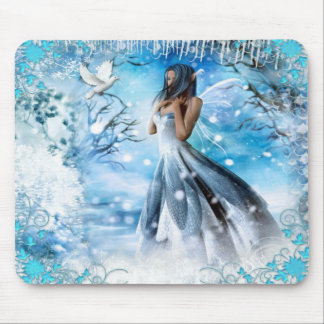 Winter Fairy Mouse Pad