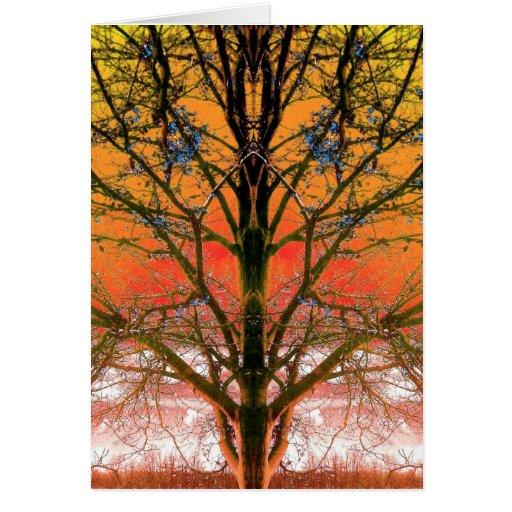 Winter Fall Spring Tree Art Photo Blank Inside Card