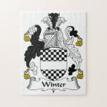 Winter Family Crest Jigsaw Puzzles