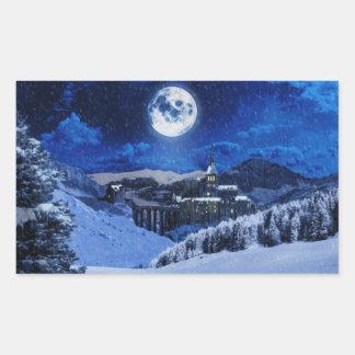 Winter Fantasy Rectangular Sticker