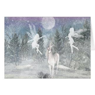 winter fantasy Siluetts Note Card