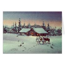 WINTER FARM  by SHARON SHARPE Card