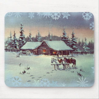WINTER FARM by SHARON SHARPE Mouse Pad