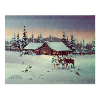 WINTER FARM  by SHARON SHARPE Post Card