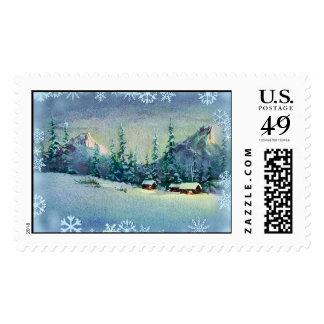 WINTER FARM by SHARON SHARPE Stamp