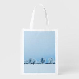 Winter Farm Grocery Bag