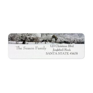 Winter farm Holiday Address Label