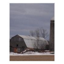 Winter Farm Land Letterhead