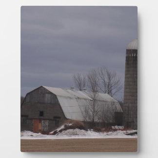 Winter Farm Land Display Plaque