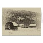 Winter Farm Landscape Greeting Card