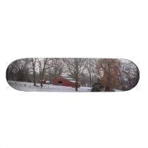 Winter Farm Pano Skateboard