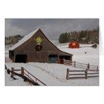 Winter Farm Scene Greeting Card
