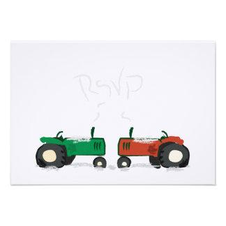 Winter Farm Wedding RSVP Card Invitation