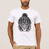 Winter Fashion Ready Tiger T-Shirt