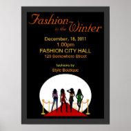 Winter Fashion Show Poster print
