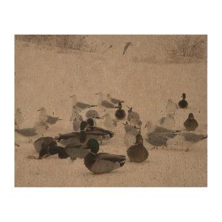 Winter Feeding of the Fowl Cork Paper Print