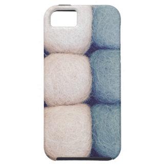 Winter felt ball sample SIRAdesign iPhone SE/5/5s Case