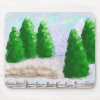 Winter Fence Mouse Pad