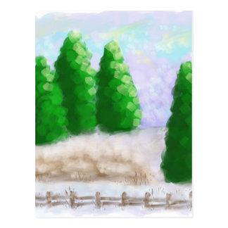 Winter Fence Postcard