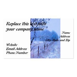 Winter Fencerow Double-Sided Standard Business Cards (Pack Of 100)