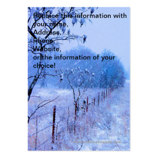Winter Fencerow Large Business Cards (Pack Of 100)