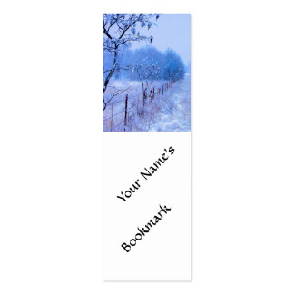 Winter Fencerow Double-Sided Mini Business Cards (Pack Of 20)