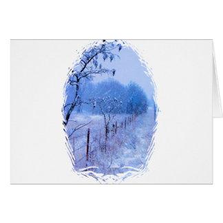 Winter Fencerow Card